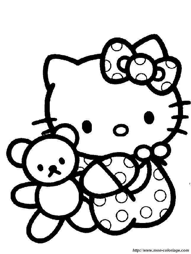 Coloriage de Hello Kitty, imprimer hello045.jpg